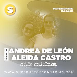 Andrea de León y Aleida Castro